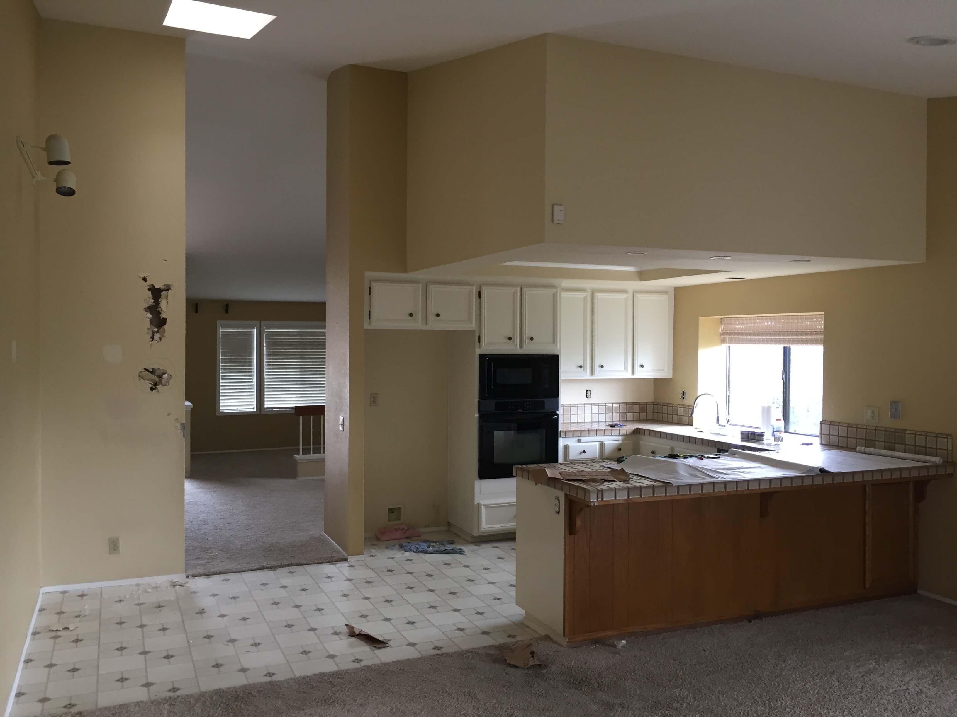 image of 80s house before whole home remodel