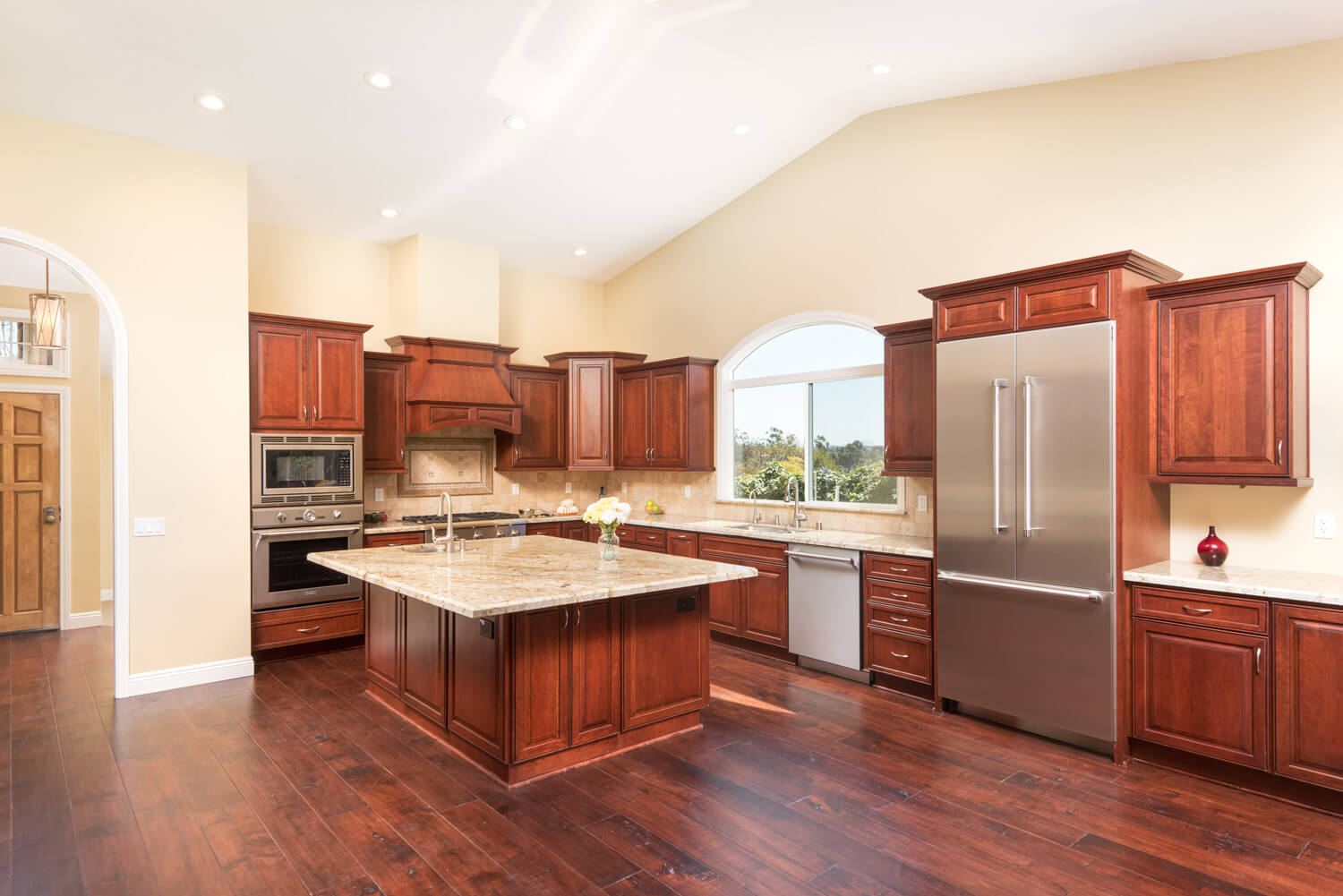 spacious traditional kitchen after whole home remodel