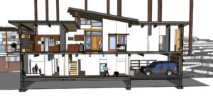 conceptual drawing of a second story addition