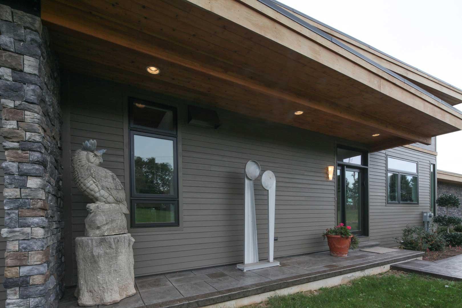 Mid Century Modern Custom Built Home Siding Options